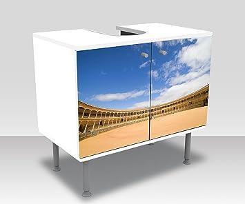 wandmotiv24 Mueble de baño Plaza de toros en Ronda, España Pegado Frontal Lavabo, Mueble Lavabo M0809: Amazon.es: Hogar