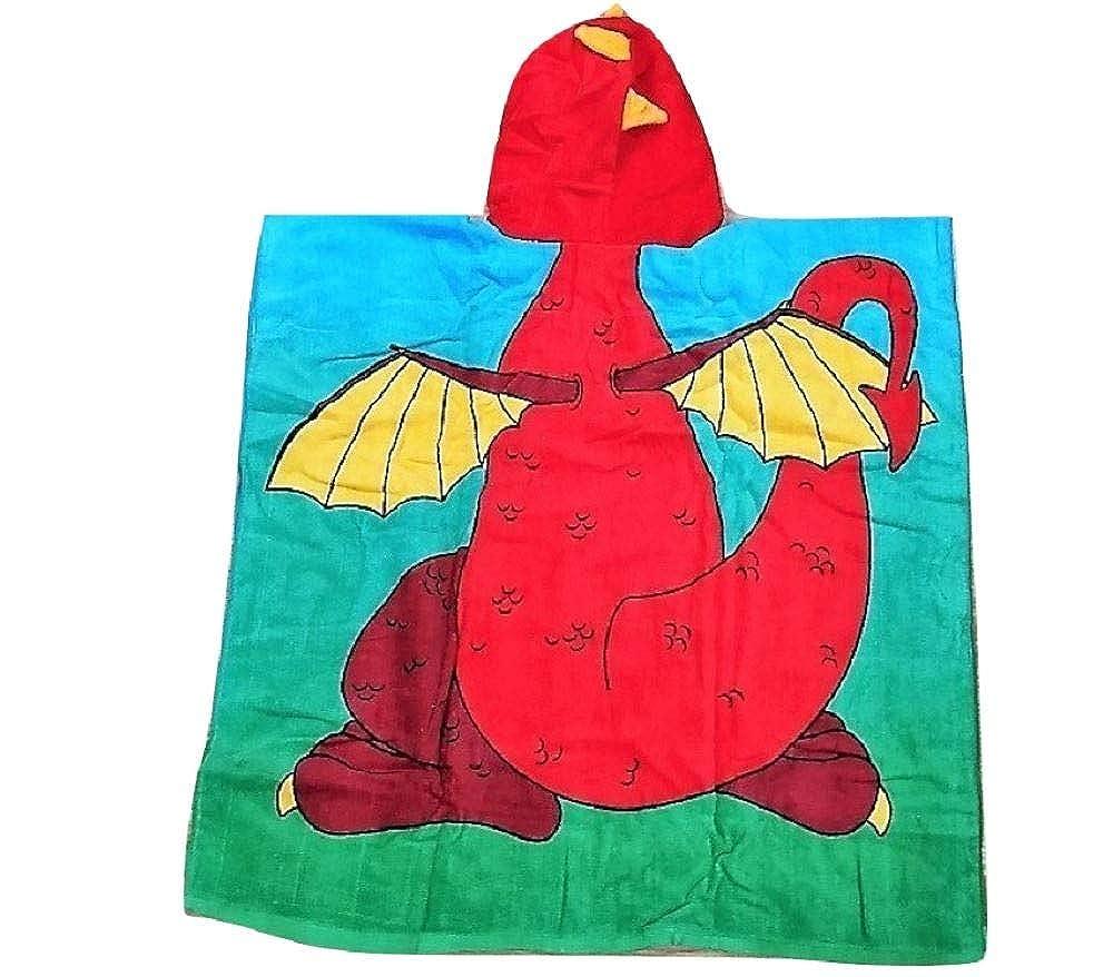 Drag/ón Undercover Lingerie Ltd Toalla encapuchada para ni/ños Unicornio Dinosaurio Tibur/ón Gato Pirata Ara/ña Sirena Conejo Futbolista Bailarina