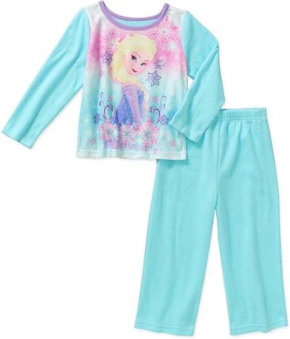 Disney Frozen Girls Elsa Fleece Wintry Sleepwear Pajama Set Blue 12M