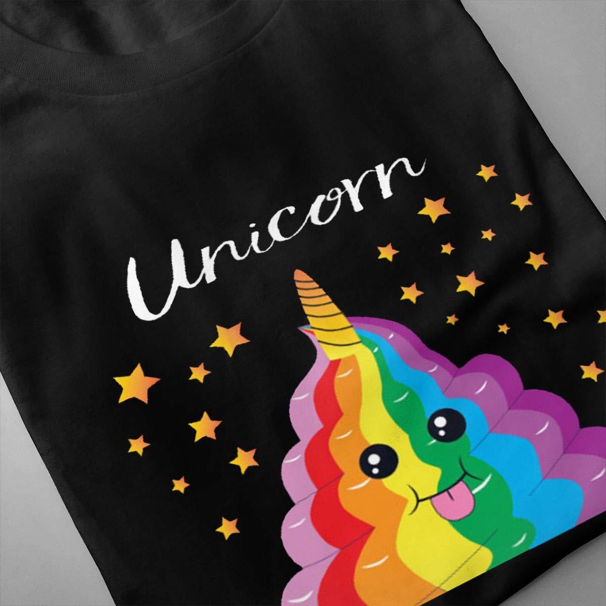 Chouven Mens Rainbow Poop Emoji Short Sleeve Shirt