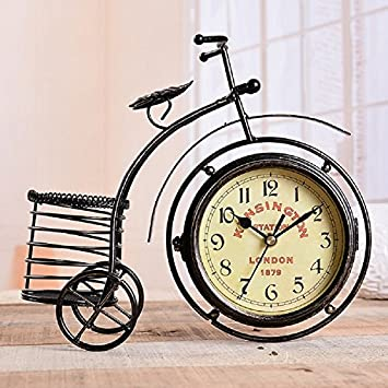 Gold Butterfly@ Home Decor Table Clock Retro Vintage Car Bike Bicycle Clocks  Ornaments Old Fashioned