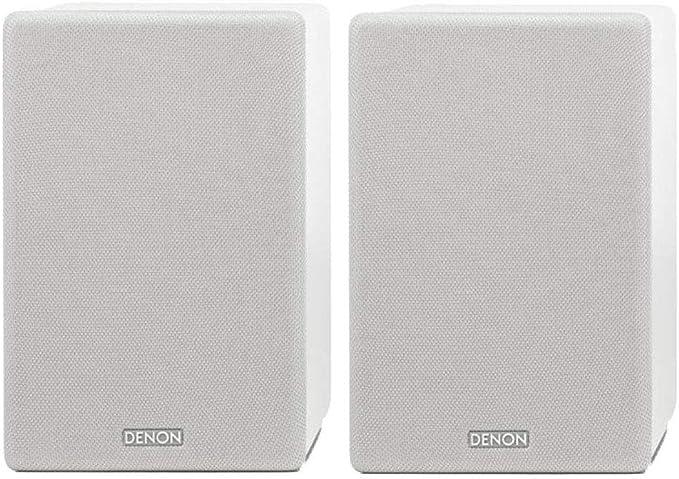 Denon SCN10 Altavoces HiFi bidireccionales para Sistema de Sonido de TV, 2 x 65 W, Compatible con receptores y amplificadores, diseño Elegante, Color ...