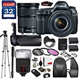 Canon EOS 5D Mark IV DSLR Camera with Canon EF 24-105mm f/3.5-5.6 IS STM Lens, TTL Flash, Tripod, Mono-Pod, Battery Grip + Professional Accessory Bundle