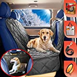 rear bucket seat cover - B-comfort Dog Seat Cover for Back Seat of Cars/Small Trucks/SUV-Luxury Backseat Dog Hammock with Mesh Window,Side Flaps,Waterproof,Anti-Scratch,Nonslip,Machine Washable Pet Seat Protector-54x58