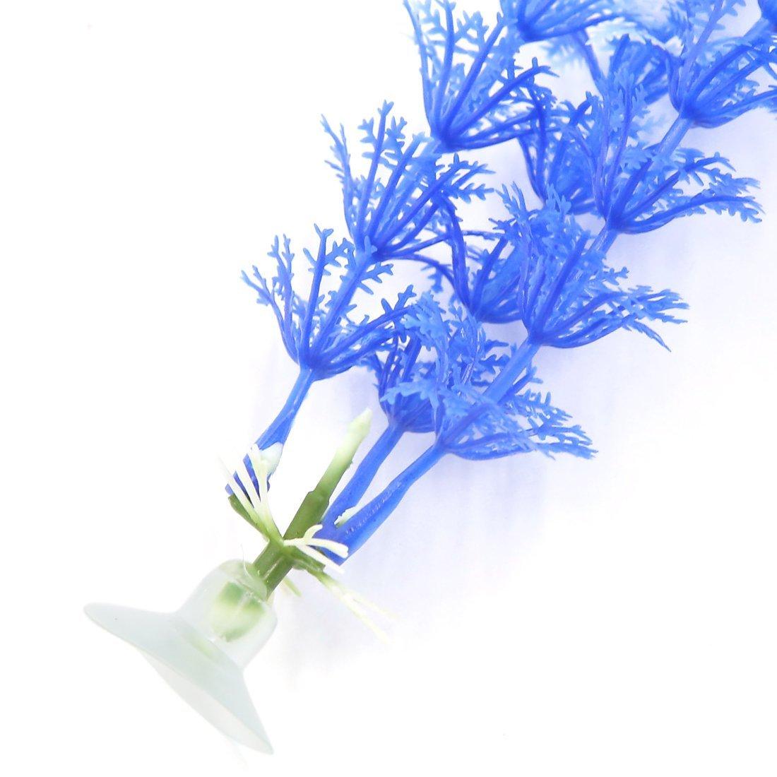 Amazon.com : eDealMax a16071400ux0496 6 pedazo planta Decoración del ornamento de plástico acuario Con ventosa : Pet Supplies