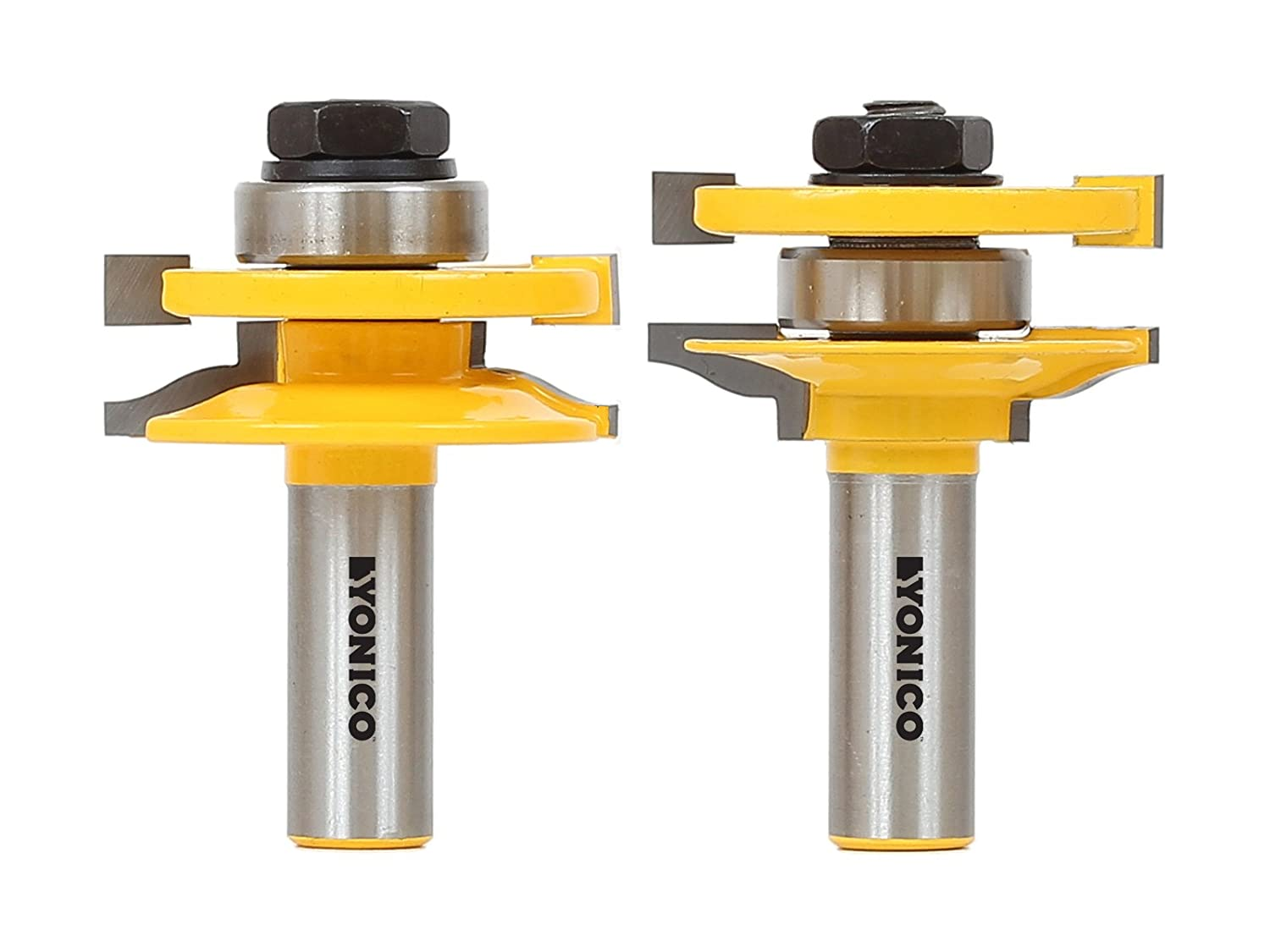 Yonico 12236 Rail and Stile Router Bit Set with Matched 2 Bit Large Ogee 1/2-Inch Shank