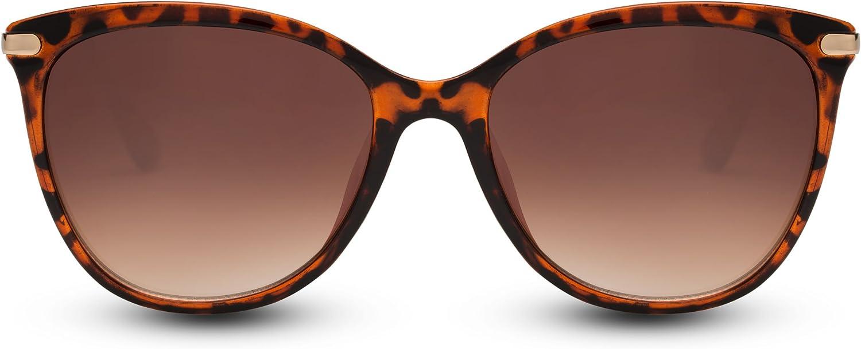 Cheapass Gafas de Sol Ojos de Gato Gafas Estampado Leopardo Grandes XXL Met/álicas Mujeres Damas