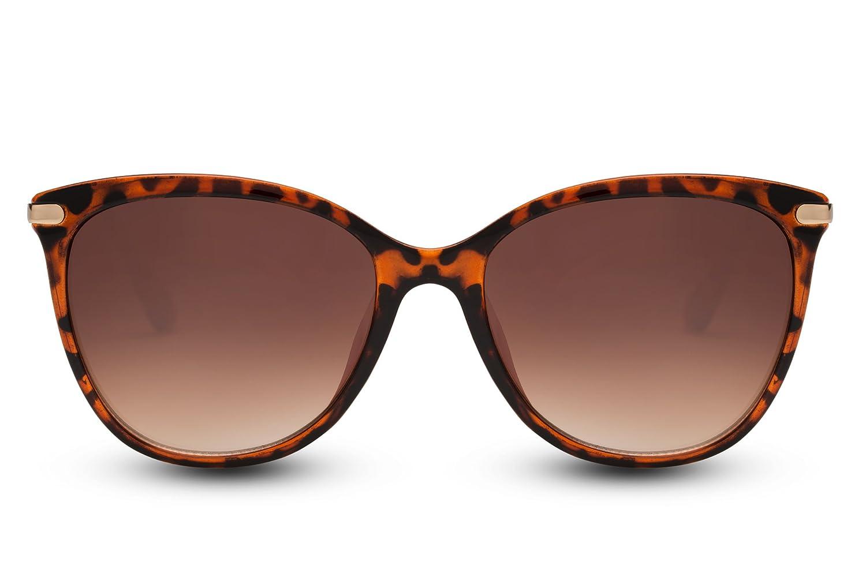 Lunettes de soleil Cheapass Femmes style yeux de chat Noires Rondes Lunettes UV400 faites de métal 8eV7p6