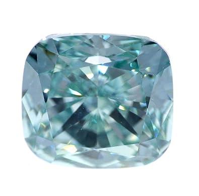 Amazon Com 1 02 Ct Loose Natural Diamond Fancy Intense Blue Cushion