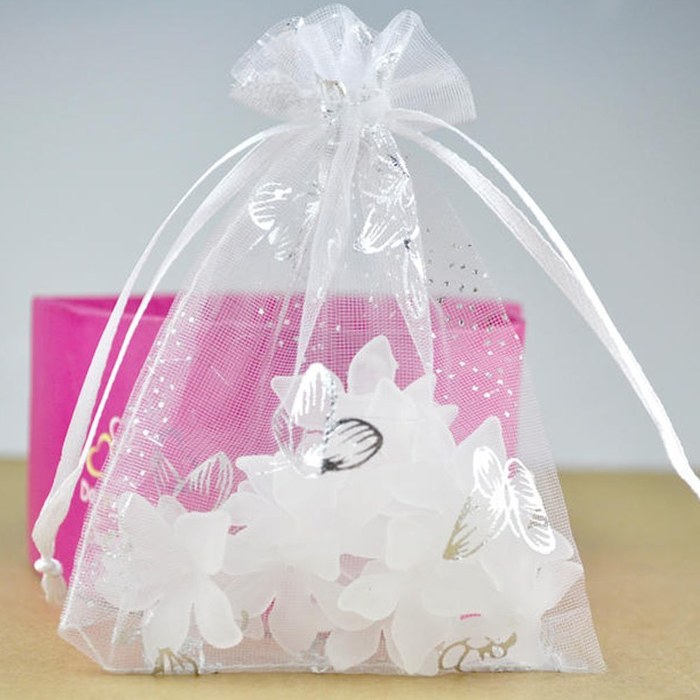 Amazon.com: G2Plus Organza Bags, 100PCS 9X12CM (3.54X4.72 ...