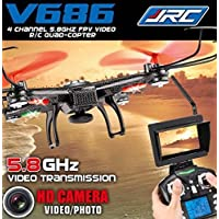 K&A Company JJRC V686 2.4G 4CH 6 Axis Gyro Headless FPV RC Quadcopter with 2.0MP Camera (Mode 2) Black New