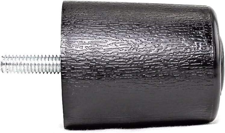 "ProFurnitureParts 2.5"" Inch Round Sofa Legs in Black Color, Sold as Set of 4, HDPE Plastic"