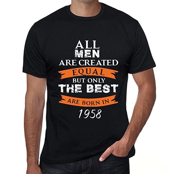 1958, Only The Best Are Born in 1958 Hombre Camiseta Negro ...