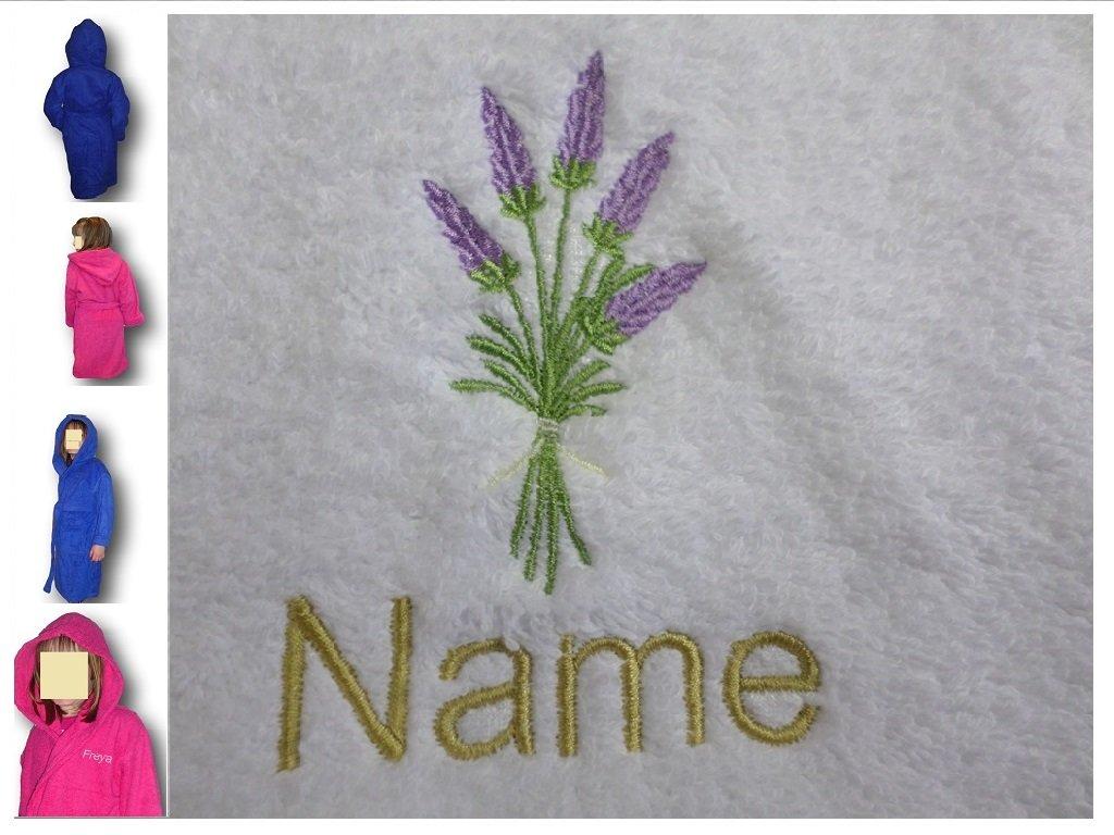 Albornoz con capucha infantil con un forro Logo y nombre de su elección en color rosa. Edades 2, 4, 6, 8, 10 o 12, Rosa, 12 años: Amazon.es: Hogar