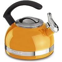 KitchenAid KI973A8 Chaleira com Apito, Laranja (Mandarin Orange), 1.9L