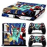GoldenDeal PS4 Console and DualShock 4 Controller Skin Set - USA Flag Patriotic Eagle US - PlayStation 4 Vinyl