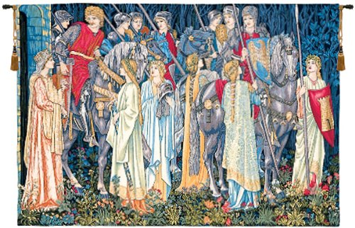 Tapestry, Extra Large, Wide - Elegant, Fine, French & Wall Hanging - The Holy Grail - No border, B-H40xW56 by Blessinglight USA