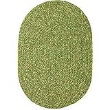RRI Home Décor Sabrina Tweed Indoor/Outdoor Oval Braided Rug, 2x4', Bay Leaf