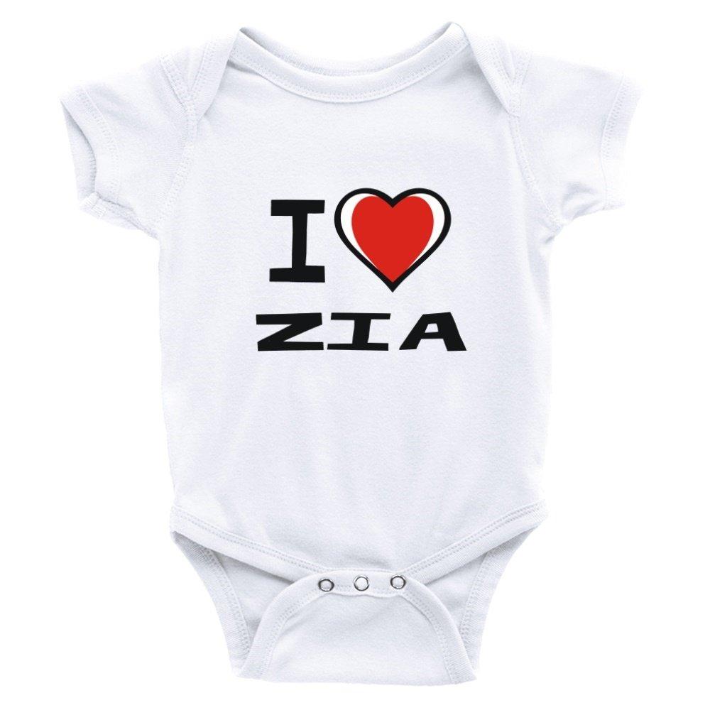 Teeburon I love Zia Baby Bodysuit