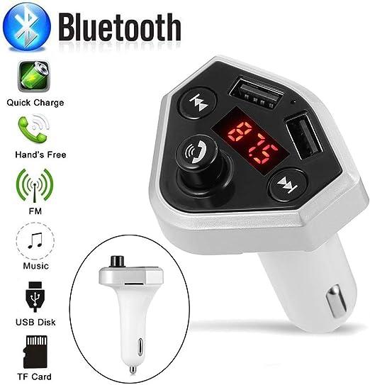 Amazon.com: Glumes - Transmisor FM Bluetooth para coche ...
