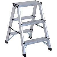 HOMCOM Escalera de Tijera Aluminio Plegable Escalera Doméstica
