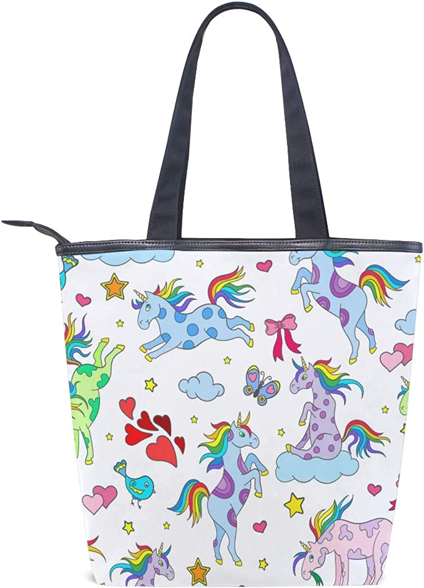 Ahomy Unicorn Rainbow Heart Butterfly Tote Bags for Women