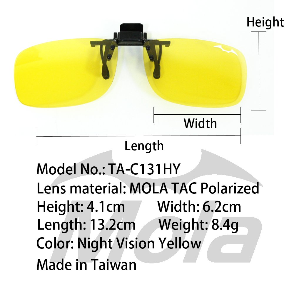 b7c846b427 MOLA Polarized night vision yellow clip on glasses driving on cloudy rainy  day night  Amazon.ca  Clothing   Accessories