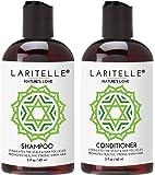 Laritelle Organic Travel Size Shampoo 2 oz + Travel Size Conditioner 2 oz | Organic Quinoa + Keratin + Follicle…