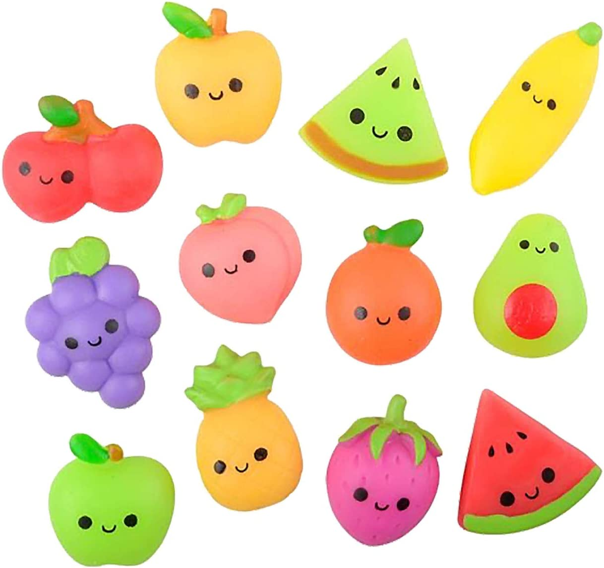 Curious Minds Busy Bags Set of 12 Fruit Mochi Squishy - Adorable Cute Kawaii - Cute Individually Wrapped Toys - Sensory, Stress, Fidget Party Favor Toy (Set of 12 (1 Dozen))