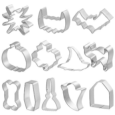 BESTONZON 12 piezas cortadores de galletas de acero ...