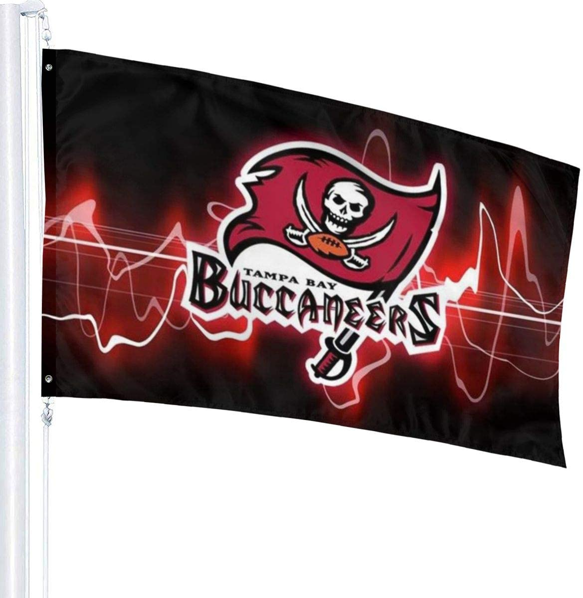Angelsept Ta-mpa Ba-y BUC-Cane-ers Flag 3x5 Foot Polyester UV Fade Resistant Banner Flag for College Football Games Fraternities Parties Dorm Room Outdoor Indoor Sport