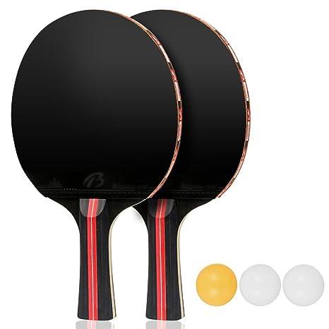 Aissy Juego de Tenis de Mesa, par de Pelotas de Tenis de Mesa de ...