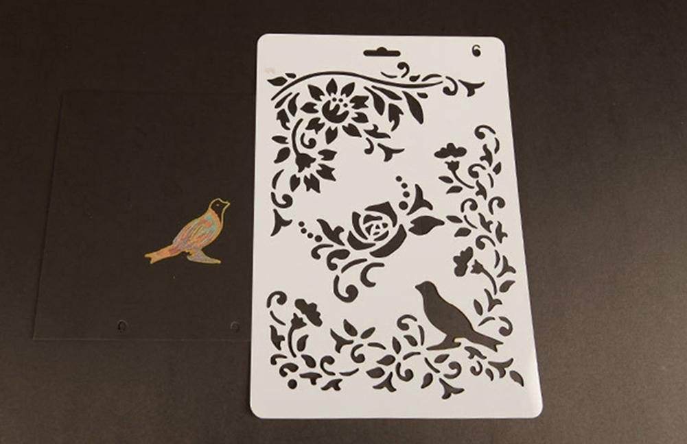 Plantillas con diferentes patrones para pintar con aer/ógrafo de Teabelle para manualidades y decoraci/ón