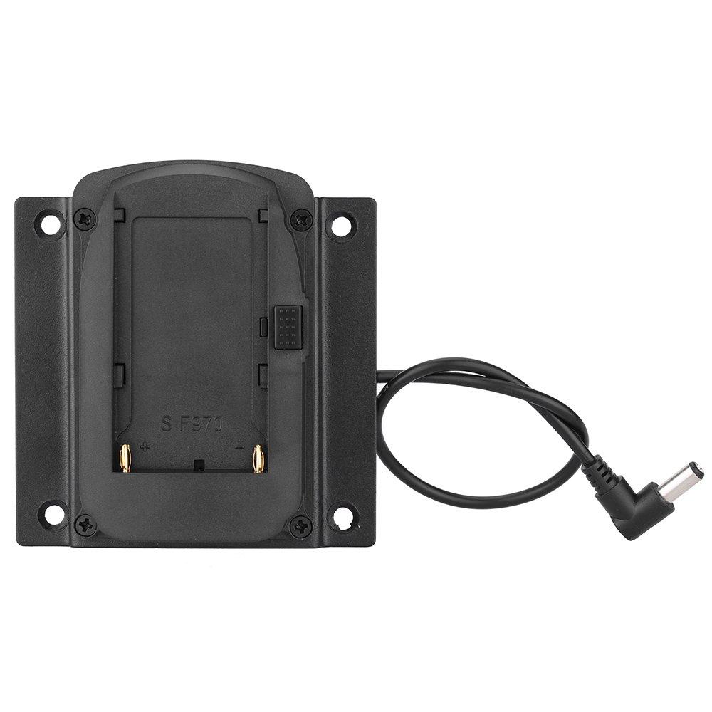 Placa base de la bater/ía Placa base para NP-F970 F550 F770 F970 F960 F750 Bater/ía VESA 75 mm placa de montaje del monitor universal Placa adaptadora de la c/ámara Compatible con Lilliput 669 619 Seri
