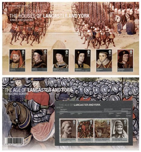 2008 The Houses of Lancaster and York (Kings and Queens) inc. Miniature Sheet Commemorative Presentation Pack printed no. 409 (PP383) - Royal Mail Stamps by Royal Mail