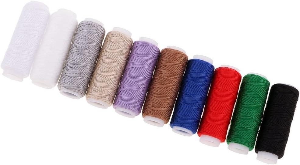 Juego de 10 piezas de hilo de poliéster para máquina de coser Jeans hilo de coser DIY: Amazon.es: Hogar