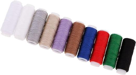 Juego de 10 piezas de hilo de poliéster para máquina de coser ...