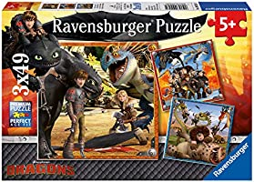 Train Your Dragon 3x 49 Piece Jigsaw