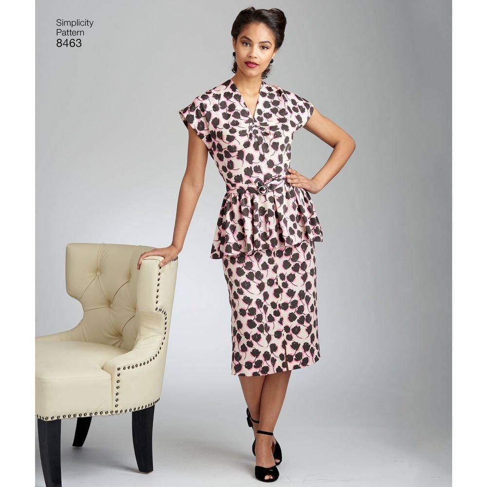 Simplicity 8463 R5 - Patrones de costura para \'Vintage 2 piezas ...