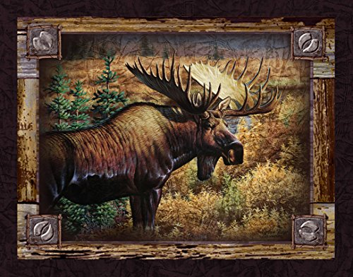 [Ode-Rin Art Christmas Gift Prints Painting for Zoo Decor Modern Giclee Artwork Slogan of Caribou Picture on Canvas Wooden Frame and Strong Hook Inside Easy to Hang for] (Costume Design Online Classes)