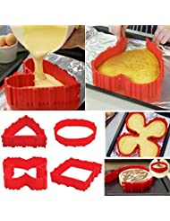 4x Silicone Cake Mold Magic Nonstick Bake Snakes Create Any Shape of Cakes for Your loved
