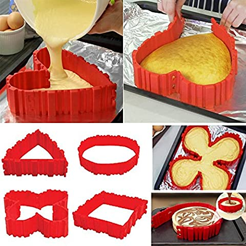 4x Silicone Cake Mold Magic Nonstick Bake Snakes Create Any Shape of Cakes for Your loved - Simply Delicious Muffins