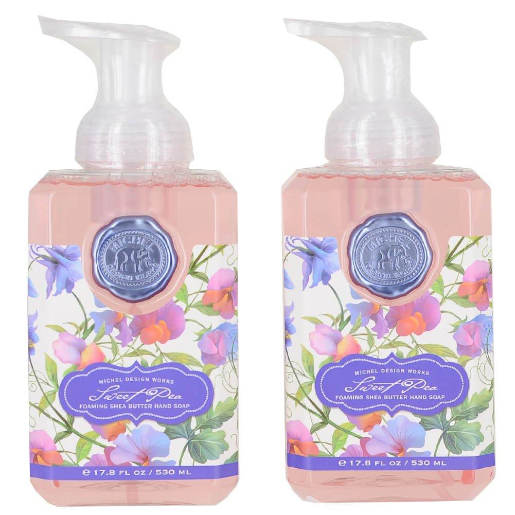 Amazoncom Michel Design Works Foaming Hand Soap Sweet Pea Bundle