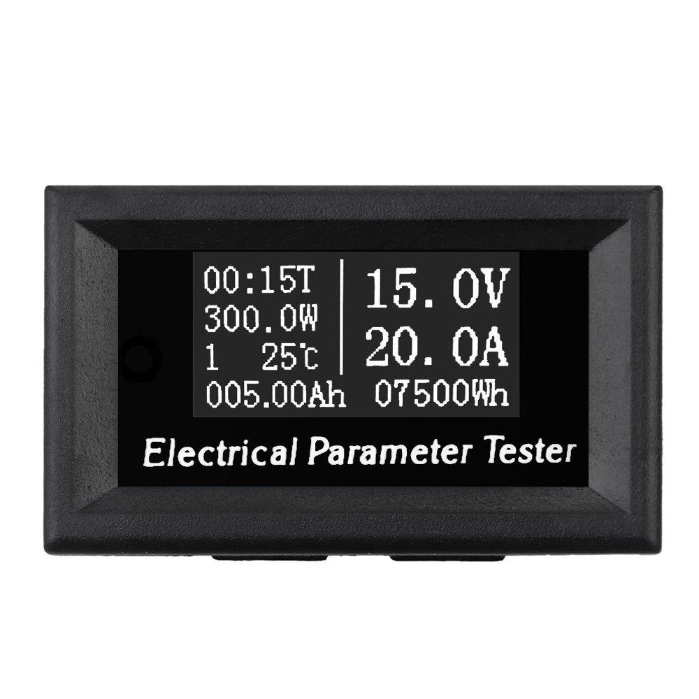 Wunes - 100V 50A / 100A 7 - 1 OLED電圧電流時間パワーエネルギー容量の温度テスター+ DC 50A 75mVの電流シャントを測定します B07CNPTL8J