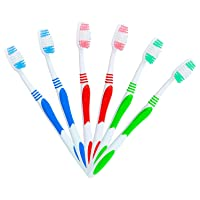 100 Bulk Toothbrushes Individually Wrapped-Manual Disposable Travel Toothbrush Set...