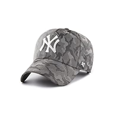 ba6e2838b79 47 Brand Headwear New York Yankees Smokelin Tech MVP Adjustable Fit Hat   Amazon.co.uk  Clothing