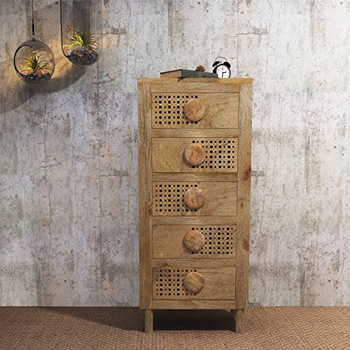 Wood Chest Mango - Great Deal Furniture 302079 William Natural Finished Solid Mango Chest of Drawers, Multicolor