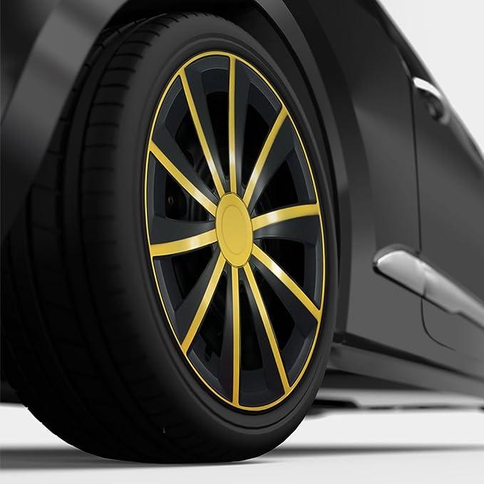 15 pulgadas bicolor Tapacubos Gral (Amarillo/Negro). Tapacubos apto para casi todos los Seat Vehículos: Amazon.es: Coche y moto