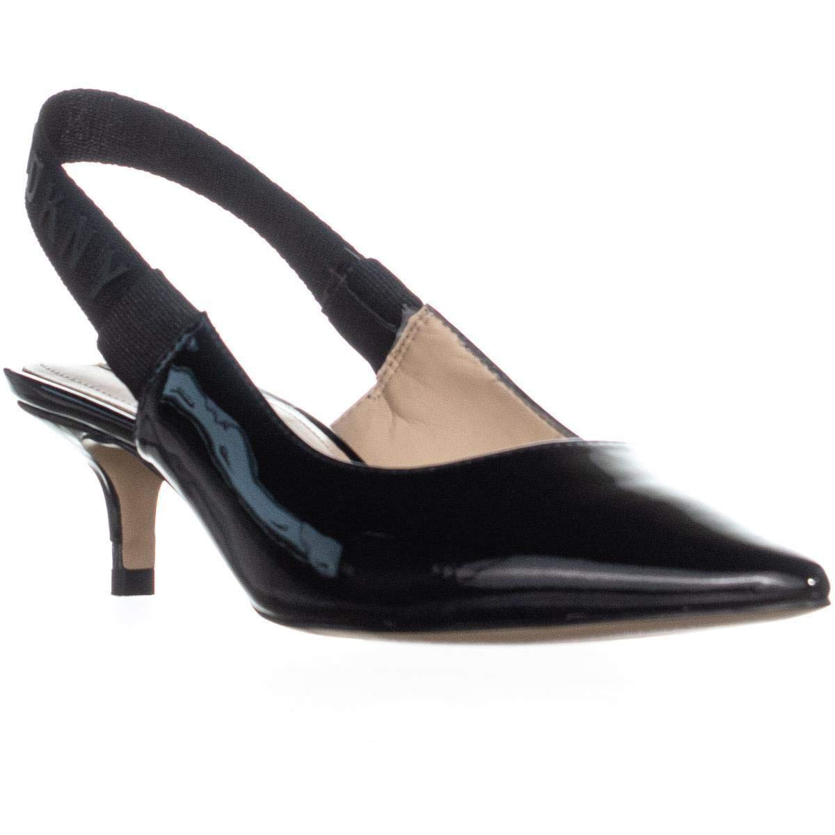 DKNY Womens Dorris Leather Pointed Toe Slingback Classic Pumps