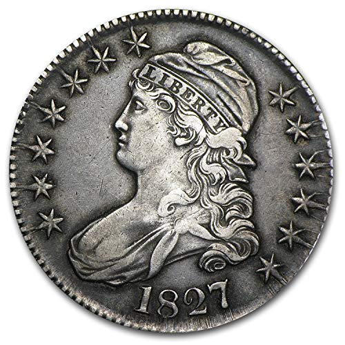 - 1827 Capped Bust Half Dollar Square Base 2 XF Half Dollar Extremely Fine